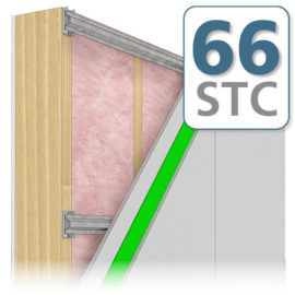 Option 5 - Soundproofing Wall STC 66