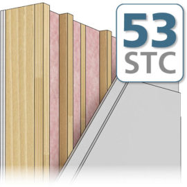 Staggered Stud Wall (Double Drywall) - STC 52 Preview