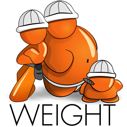 Typical weight expected from different building materials